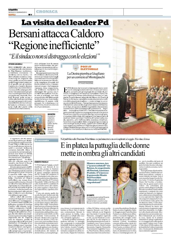 La Repubblica del 31.01.2013