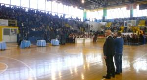 Mario Vattani al Palasport di Monteruscello